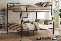 Major-Q Metal Tube Supported FullXL/Queen Bunk Bed with Ladd