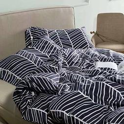 Minimalist Abstract Striped Duvet Quilt Cover Dusty Taupe Ta