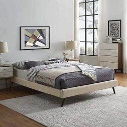 Modway MOD-5891-BEI Loryn Queen Bed Frame with Round Splayed