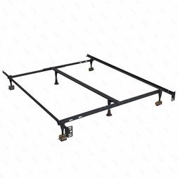 New Full Modern Bi-Fold Folding Platform Metal Bed Frame Mat