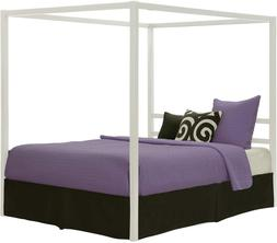 DHP Modern Canopy Bed with Built-in Headboard, Classic Desig