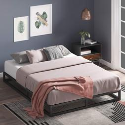 Queen Bed Frame 6 Inch Platform Low Profile Box Spring Metal