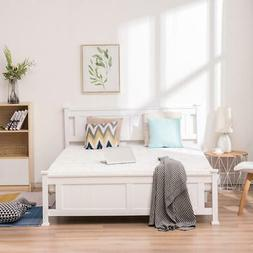 New 3 Size Wooden Bed Frames W/Headboard FootboardBed Frame