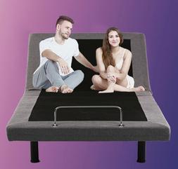 New Adjustable Bed Base Queen Size Remote Control Foundation