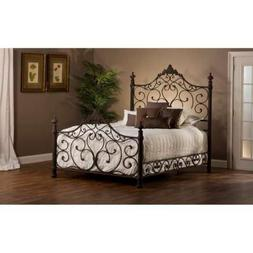 Hillsdale Furniture Panel Bed Set with Rails in Antique Brow