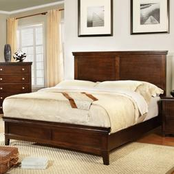 Furniture of America Pasha Platform Bed, Queen, Brown Cherry