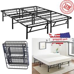 platform bed frame heavy duty folding foundation