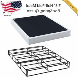 Platform Bed Frame Queen Size 7.5 In. Box Spring Mattress Be