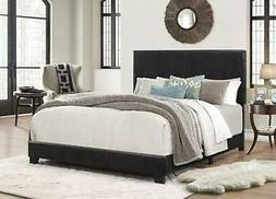 Platform Bed Frame With Headboard Queen Size Upholstered Bed