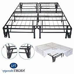 Night Therapy Platform Metal Bed Frame/Foundation Set - No B