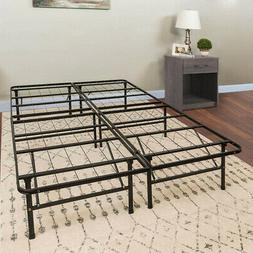 Platform Queen Size Bed Frame 14 Inch Mattress Foundation HD