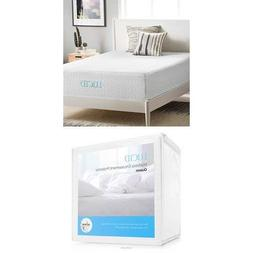 LUCID 14 Inch Plush Memory Foam Mattress - Ventilated Gel Me