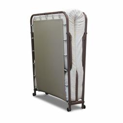 portable folding rollaway guest metal bed frame