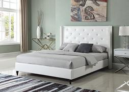 premiere classics leather white tufted