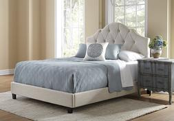 Pulaski Mason All-in-1 Fully Upholstery Tuft Saddle Bed, Que