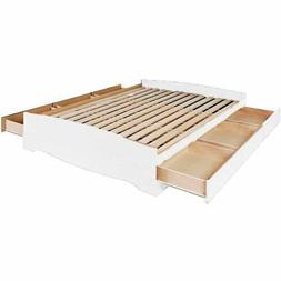Prepac Queen Mate's Platform Storage Bed with 6 Drawers in