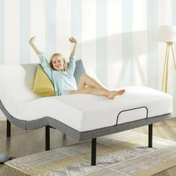 "Queen Electric Bed Frame And 8"" Mattress Adjustable Base Rem"