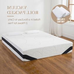 "12"" Queen Size Cool  Medium-Firm Memory Foam Mattress Bed wi"