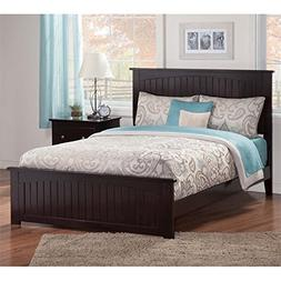 Atlantic Furniture Queen Platform Bed in Espresso
