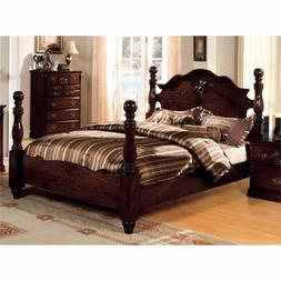 BOWERY HILL Queen Poster Bed in Dark Pine
