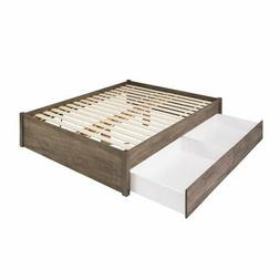 Queen Select 4-Post Platform Bed with 2 Drawers, Drifted Gra