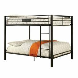 Furniture of America Rivell Queen Over Queen Metal Bunk Bed