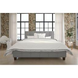 DHP Rose Linen Tufted Upholstered Platform Bed, Button Tufte