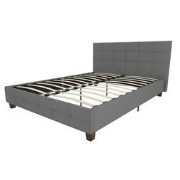 Rose Linen Upholstered Bed, Grey, Multiple Sizes