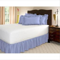 WINLIFE Ruffled <font><b>Bed</b></font> Skirt Solid Microfib