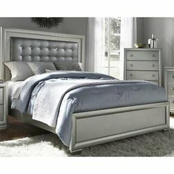 Samuel Lawrence Celestial Upholstered Queen Panel Bed in Sil