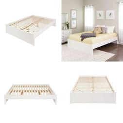 Select White Queen 4 Post Platform Bed Sophisticated Spring