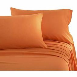 Sheets & Pillowcases Brushed Microfiber Queen Bed Set, Orang