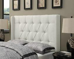 Pulaski Shelter Button Tufted Upholstered Headboard, Linen,