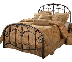 Hillsdale Silverton Metal Sleigh Bed Bronze Pewter Finish