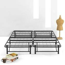SIMPLE&EASY BiFold Metal bed frame Under bed Storage, Steel