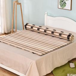 Solid <font><b>Wood</b></font> Rolling Platform <font><b>Bed
