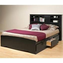 Prepac Sonoma Queen Platform Storage Bed in Black