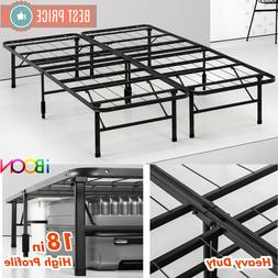 Steel Platform BED FRAME Queen Size Metal Foldable 18 in Hig