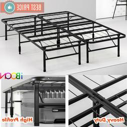 Steel Platform BED FRAME Queen Size Metal Foldable High Prof