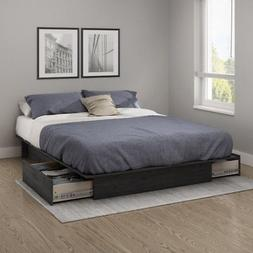 South Shore Step One Full/Queen Platform Bed With Drawers