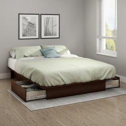 South Shore Step One Platform Bed with Drawers - Full/Queen