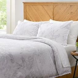 Stone & Beam Farmhouse Distressed Seersucker Duvet Cover Set