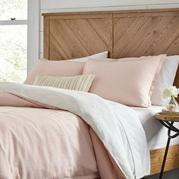 Stone & Beam Reversible Marcana Linen Duvet Cover Set, Full