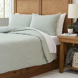 Stone & Beam Traditional Duvet Comforter Cover, King, Green