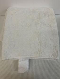 Stone & Beam Vintage-Inspired White Embroidery Coverlet Set