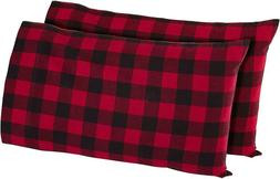 Stone  Beam Rustic Buffalo Check Flannel Pillowcase Set, Sta