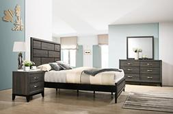 Stout Panel Queen Size Bedroom Set with Bed, Dresser, Mirror