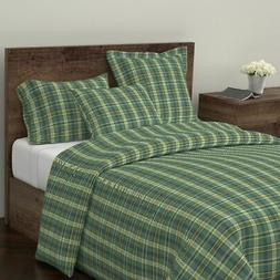 Tartan Plaid Buffalo Check Scottish Kitchen Home Sateen Duve