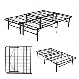 Twin/Full/Queen Bi-Fold Foldable Metal Bed Frame Platform Ma