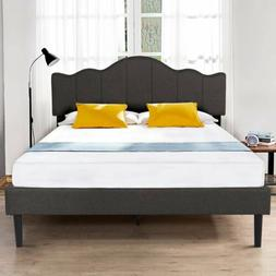 Twin/Full/Queen Size Platform Bed Frame Upholstered Headboar